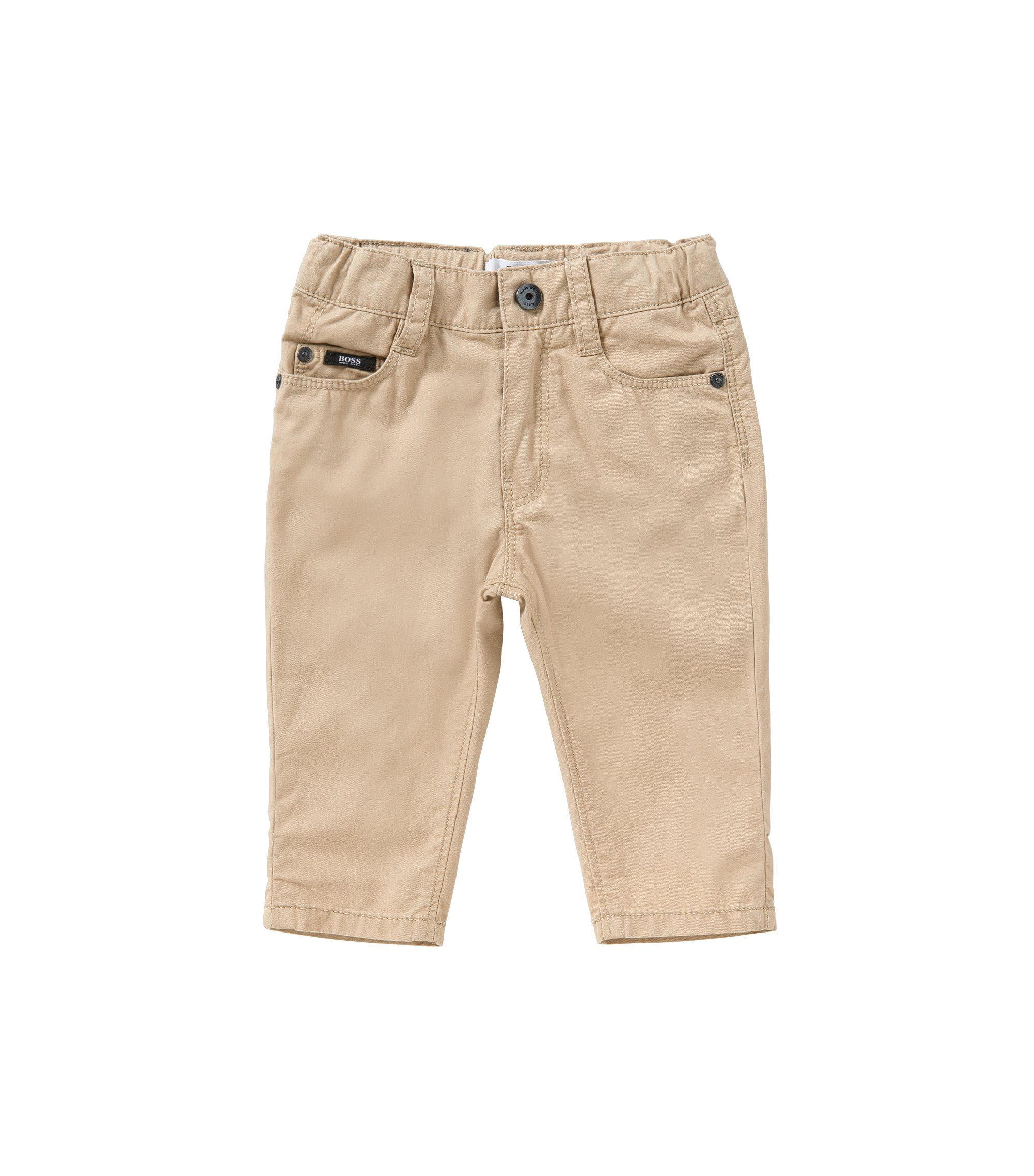 Regular-Fit Baby-Hose aus Baumwolle im Five-Pocket-Stil: 'J04225', Beige