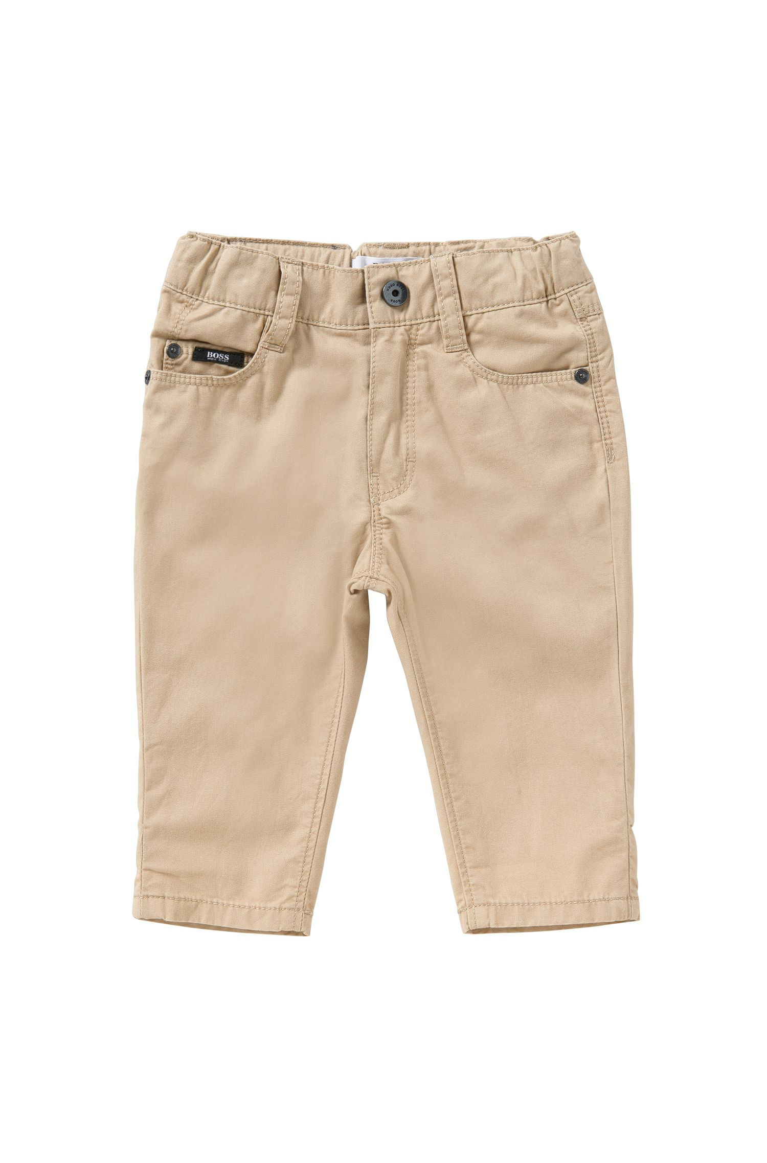 Regular-fit newborn's trousers made from cotton in 5-pocket style: 'J04225'
