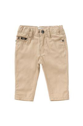 Regular-Fit Baby-Hose aus Baumwolle im Five-Pocket-Stil: 'J04225', Beige