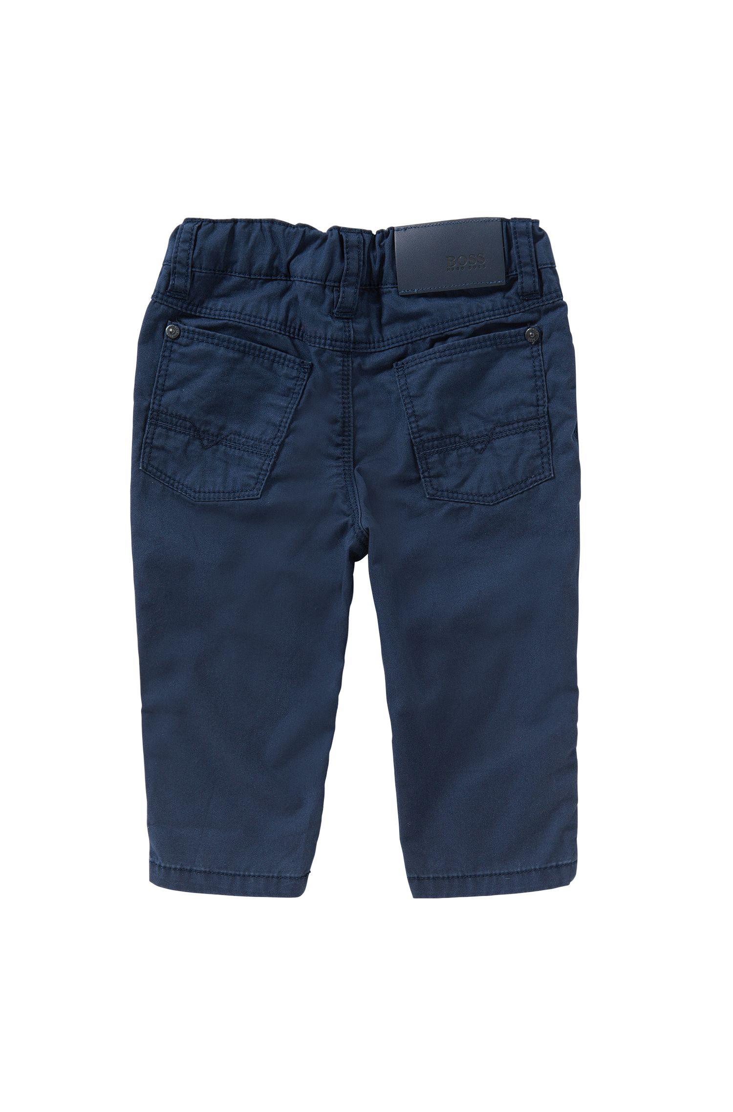 Pantalon Regular Fit pour bébé en coton, de style cinq poches: «J04225», Bleu foncé
