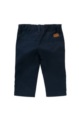 Newborns' trousers in cotton: 'J04227', Dark Blue