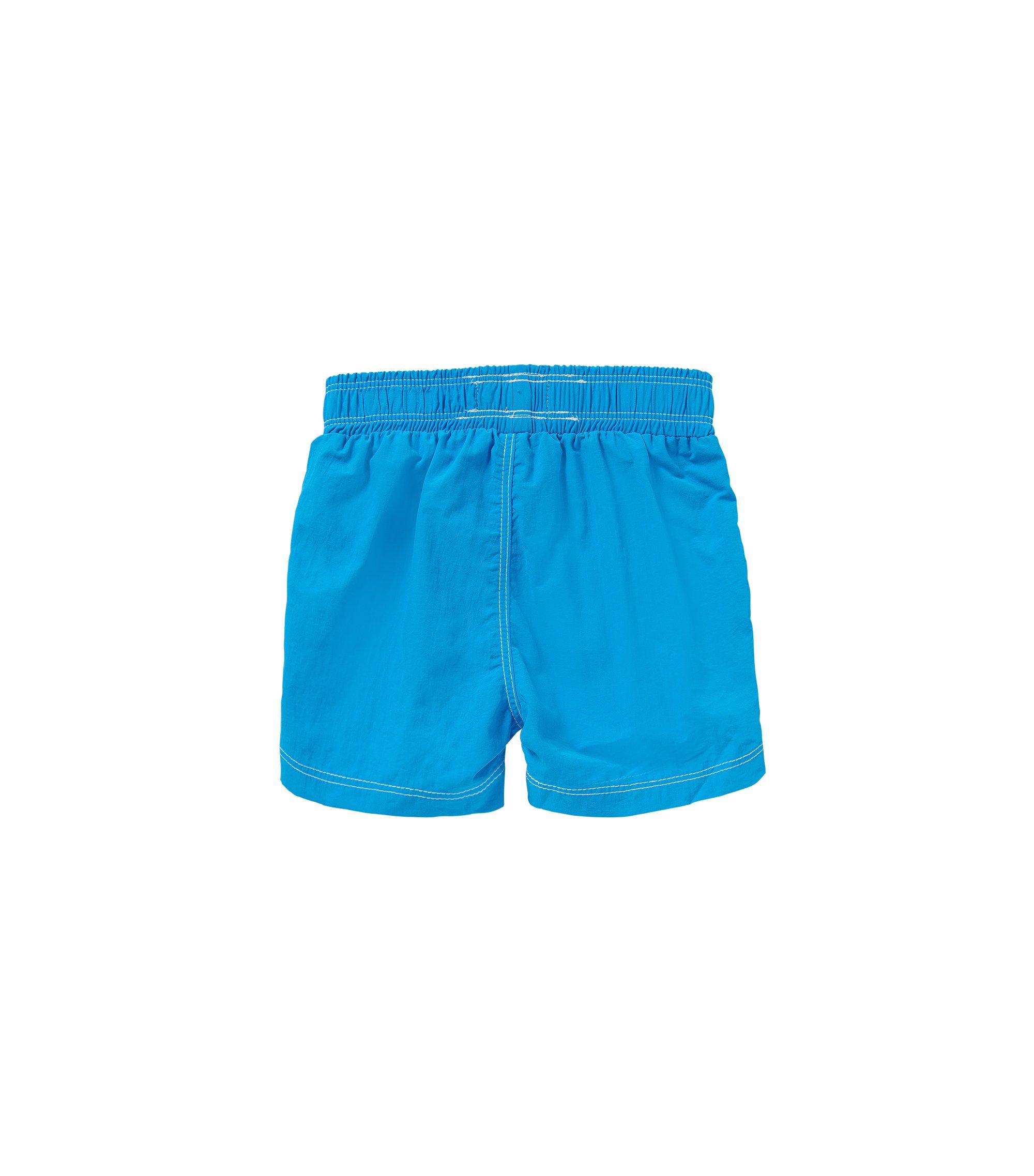Kids' swim shorts with large logo print: 'J04228', Turquoise
