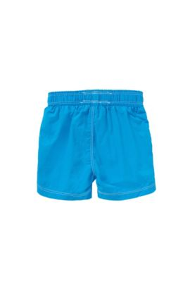 Bañador short para niño con logo impreso a gran tamaño: 'J04228', Turquesa