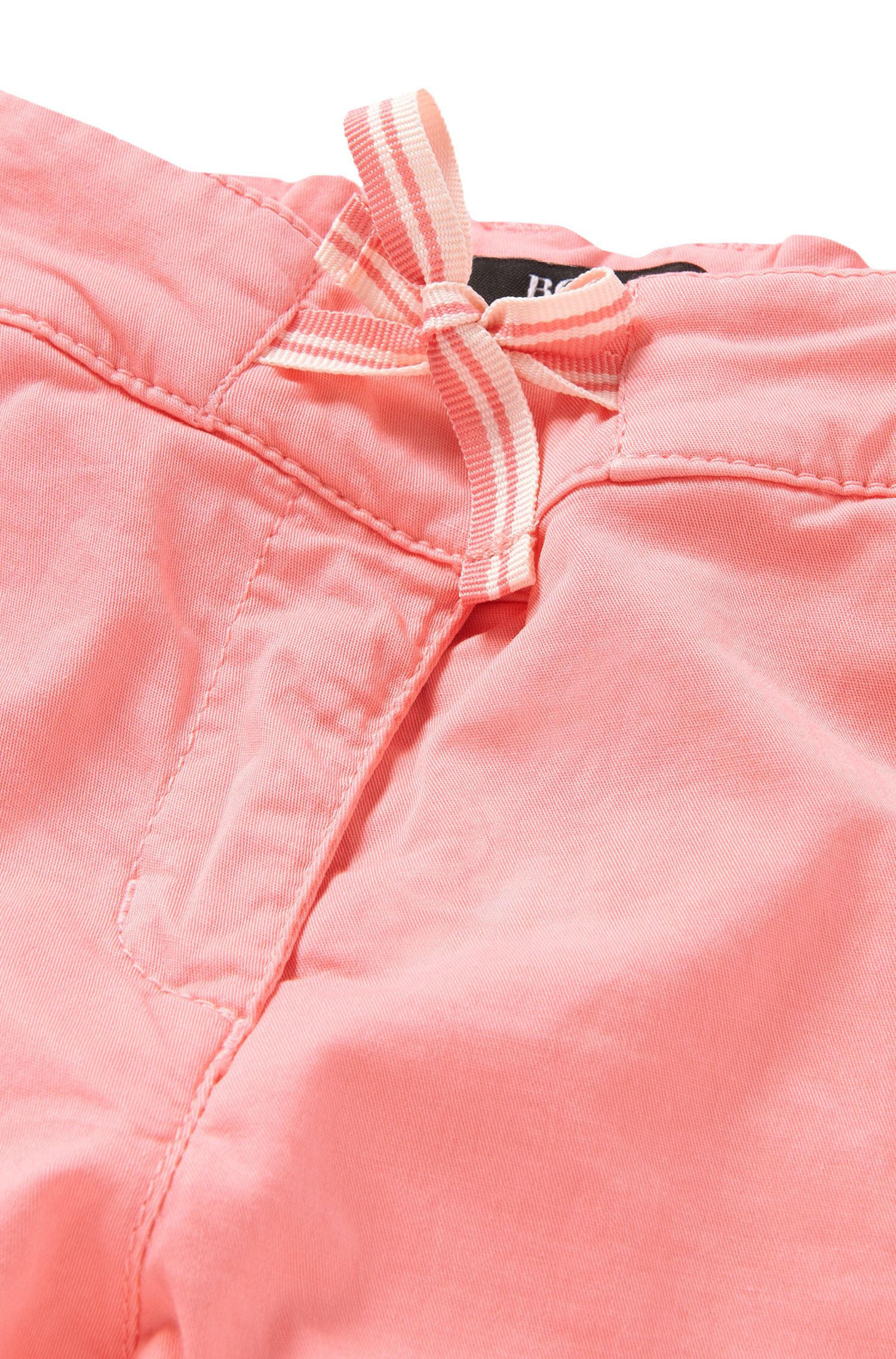 Pantalon pour bébé en coton stretch avec cordon à nouer décoratif: «J04232»