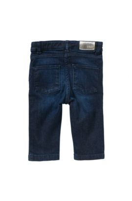 Slim-fit newborns' jeans in cotton blend: 'J04234', Patterned