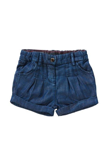 Regular-Fit Baby-Shorts in Denim-Optik mit Elastikbund: 'J04236', Gemustert