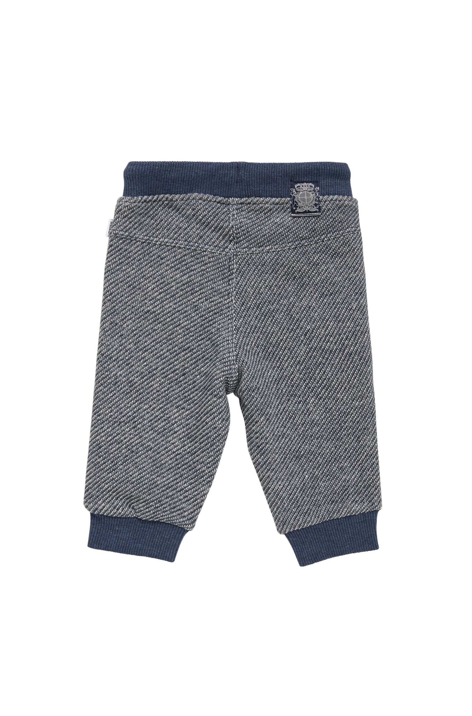 Pantalon sweat pour enfant en coton avec cordon de serrage: «J04245»