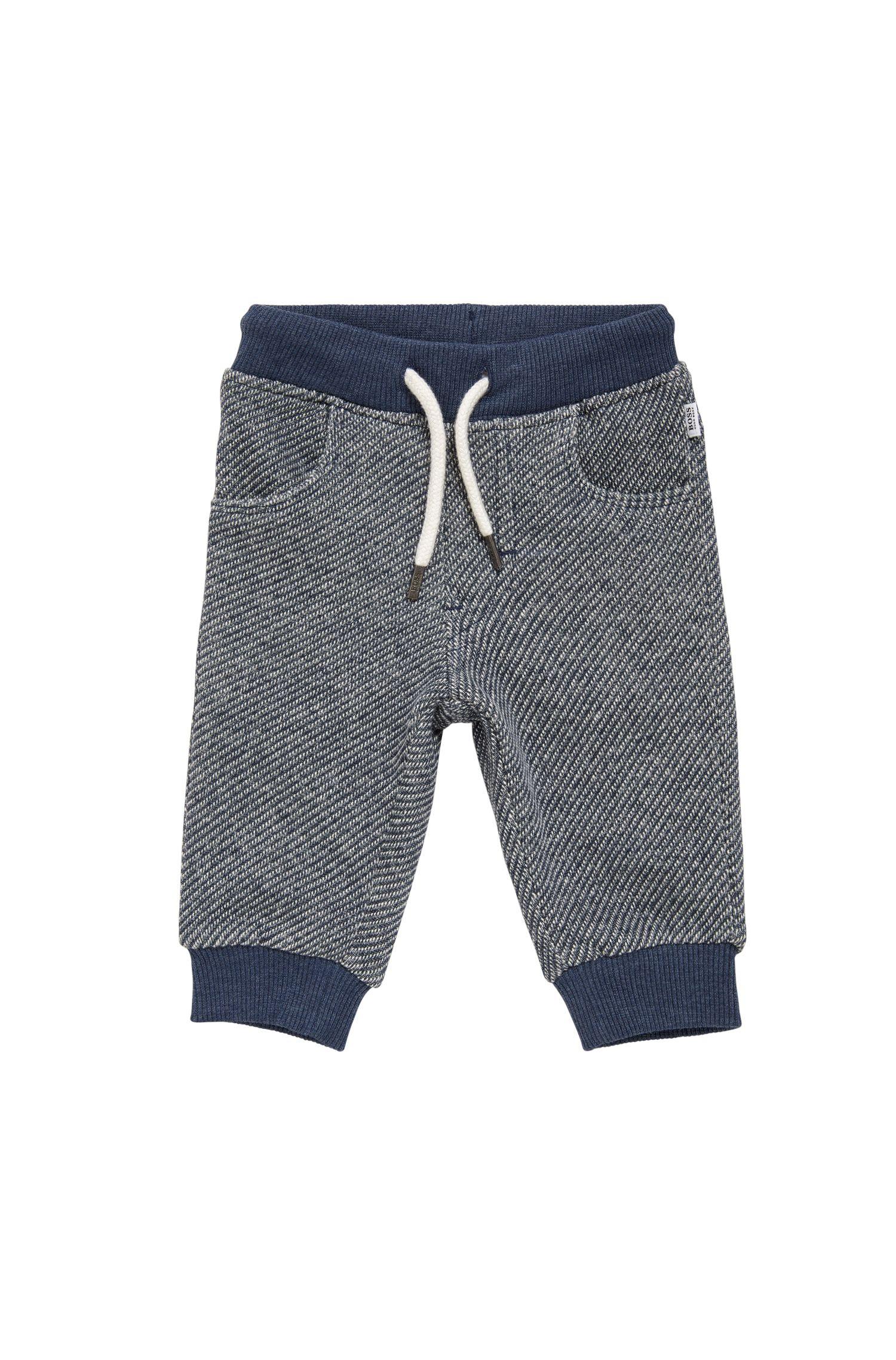 Pantalón de chándal para niños en algodón y cintura con cordón: 'J04245'
