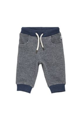 Kids-Sweathose aus Baumwolle mit Tunnelzugbund: 'J04245', Dunkelblau