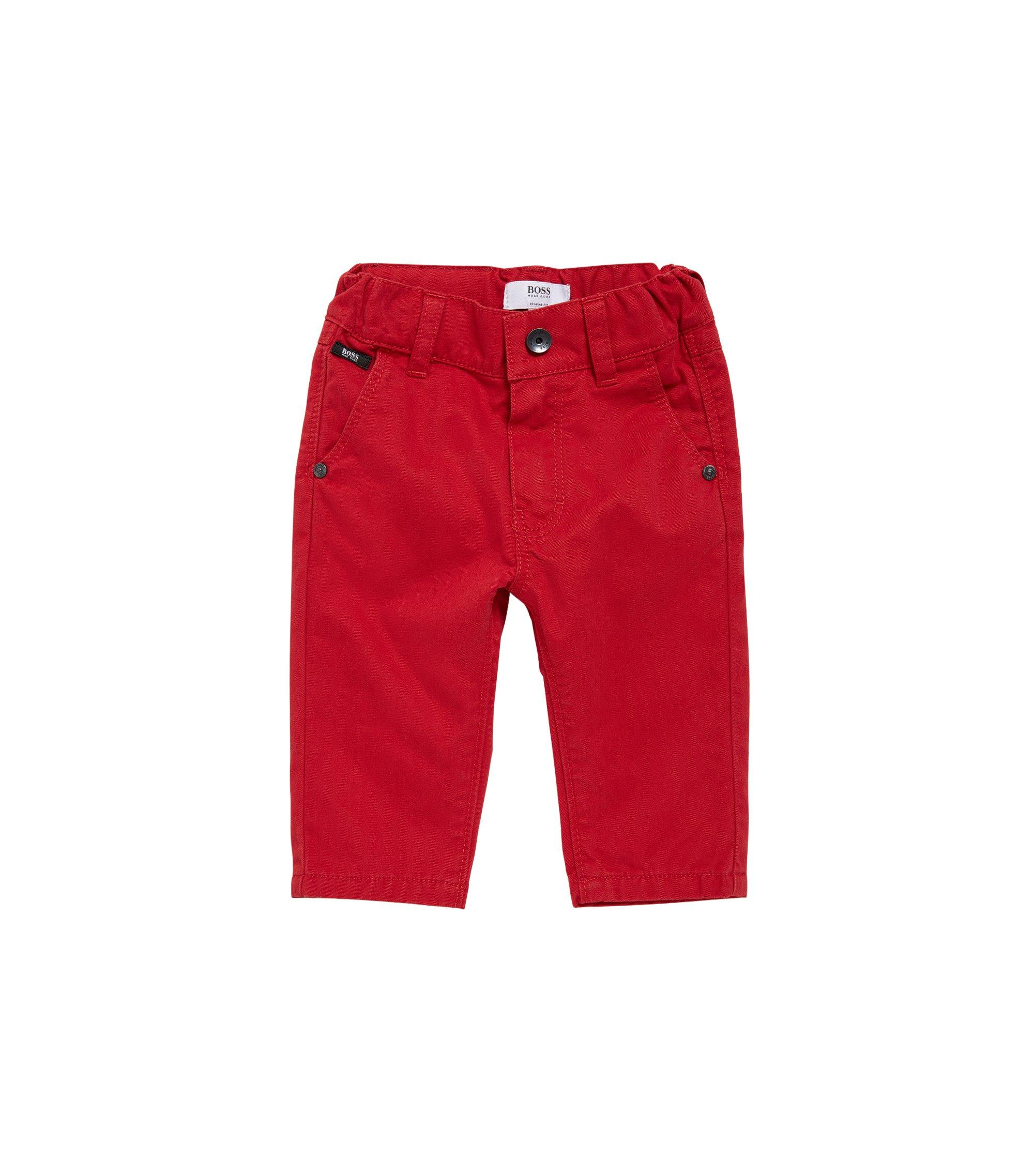 Pantaloni regular fit da bambino in cotone: 'J04248', Rosso