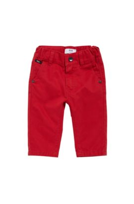 Regular-Fit Kids-Hose aus Baumwolle: 'J04248', Rot
