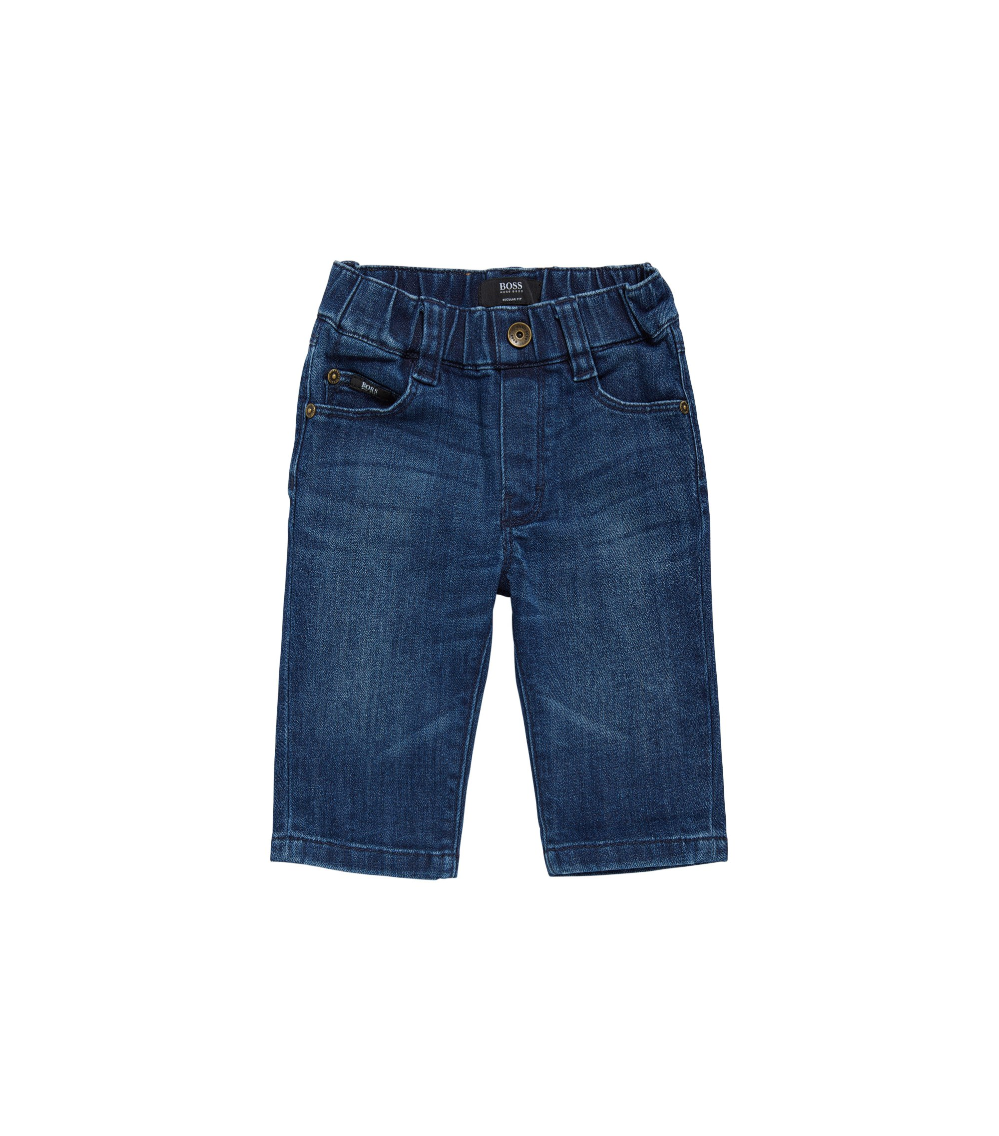 Regular-Fit Kids-Jeans aus Baumwolle: 'Alabama', Gemustert