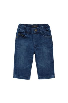 Regular-fit kids' jeans in cotton: 'Alabama', Patterned