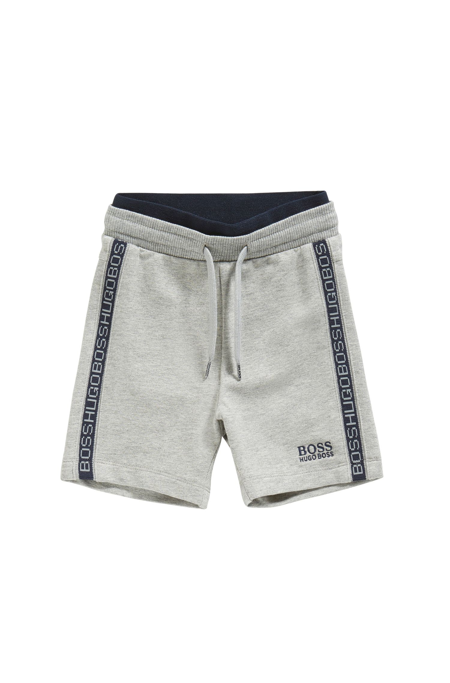 Newborns' tracksuit shorts in stretch cotton with a drawstring waistband: 'J04257'