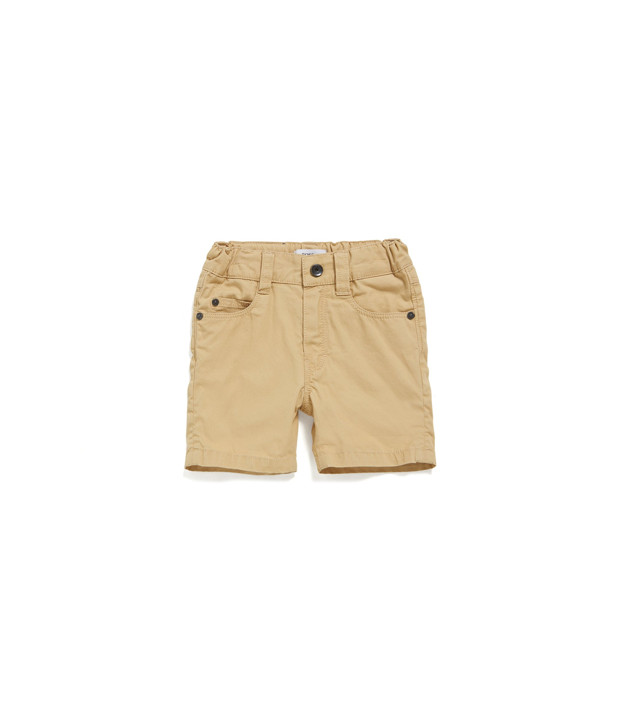 Baby cotton shorts in five-pocket style: 'J04259', Beige
