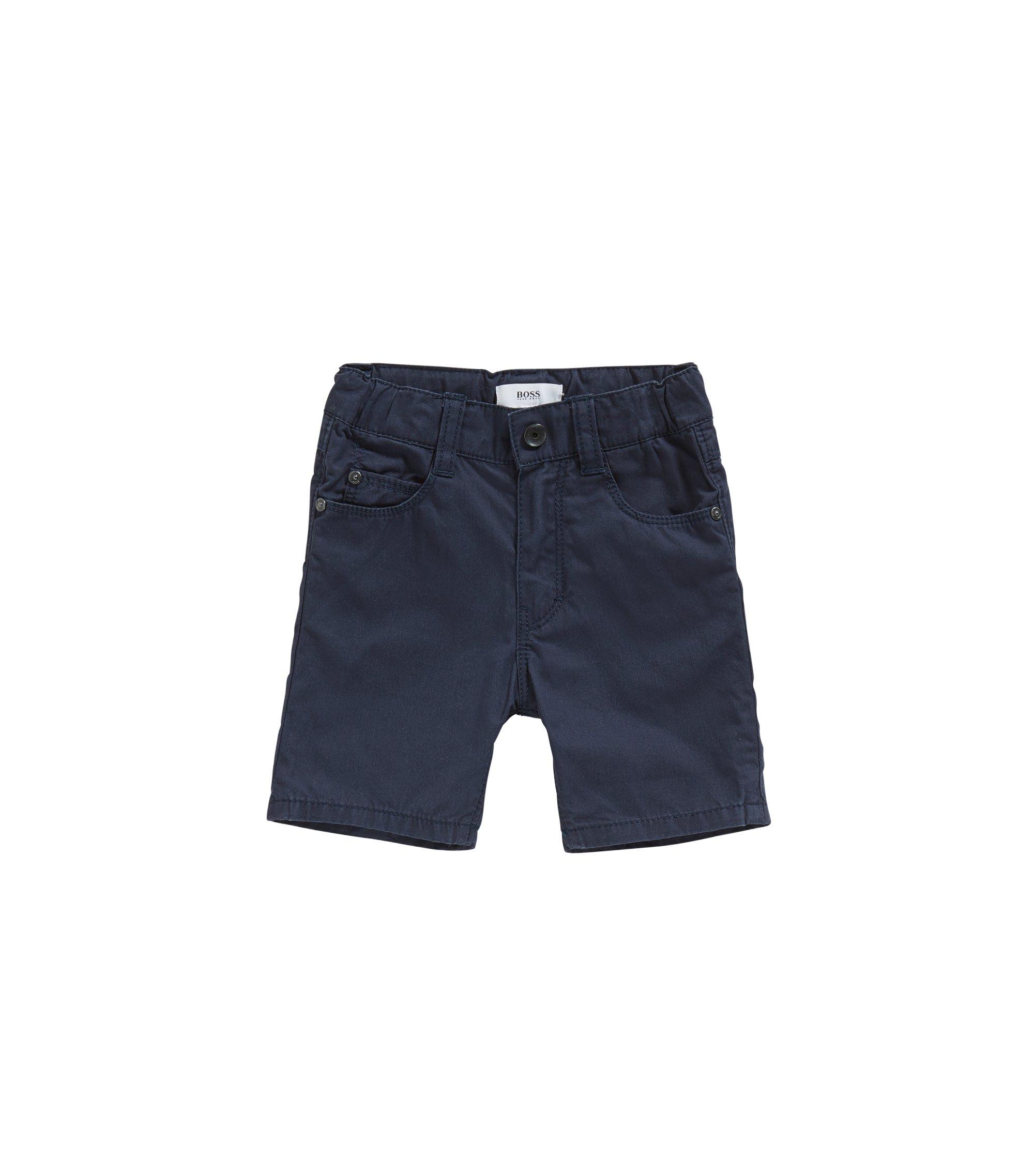 Short pour bébé en coton, de style cinq poches: «J04259», Bleu foncé