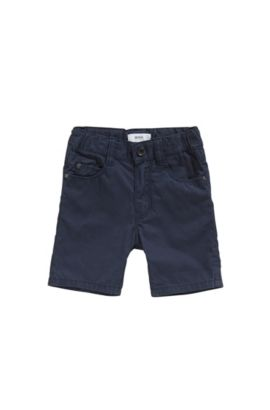 Baby cotton shorts in five-pocket style: 'J04259', Dark Blue