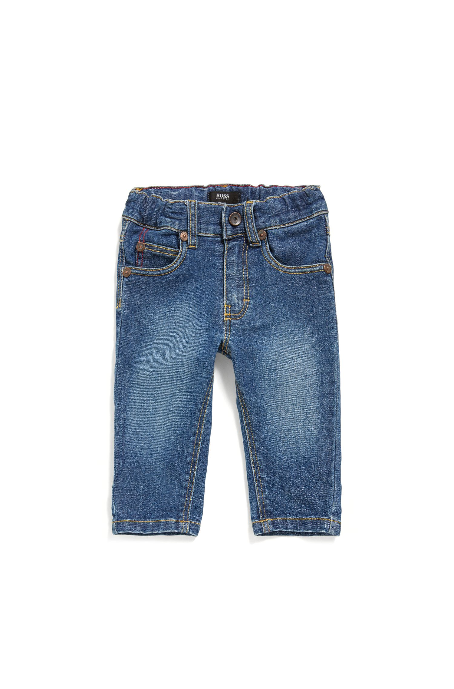 Newborns' jeans made from stretch cotton in 5-pocket style: 'J04264'