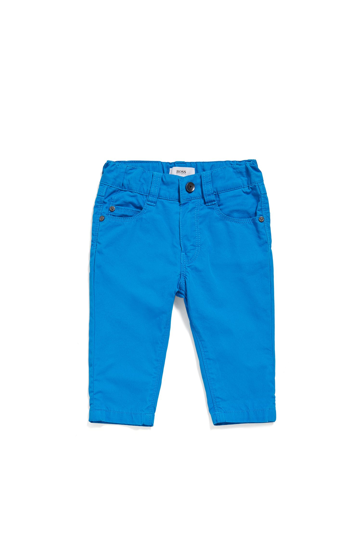 Baby cotton trousers in five-pocket style: 'J04266'