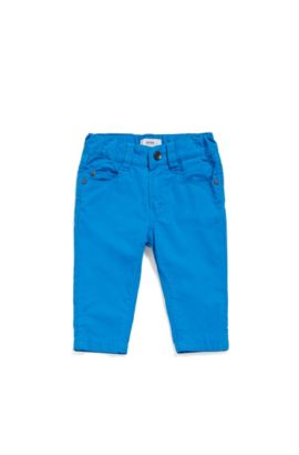 Baby cotton trousers in five-pocket style: 'J04266', Blue