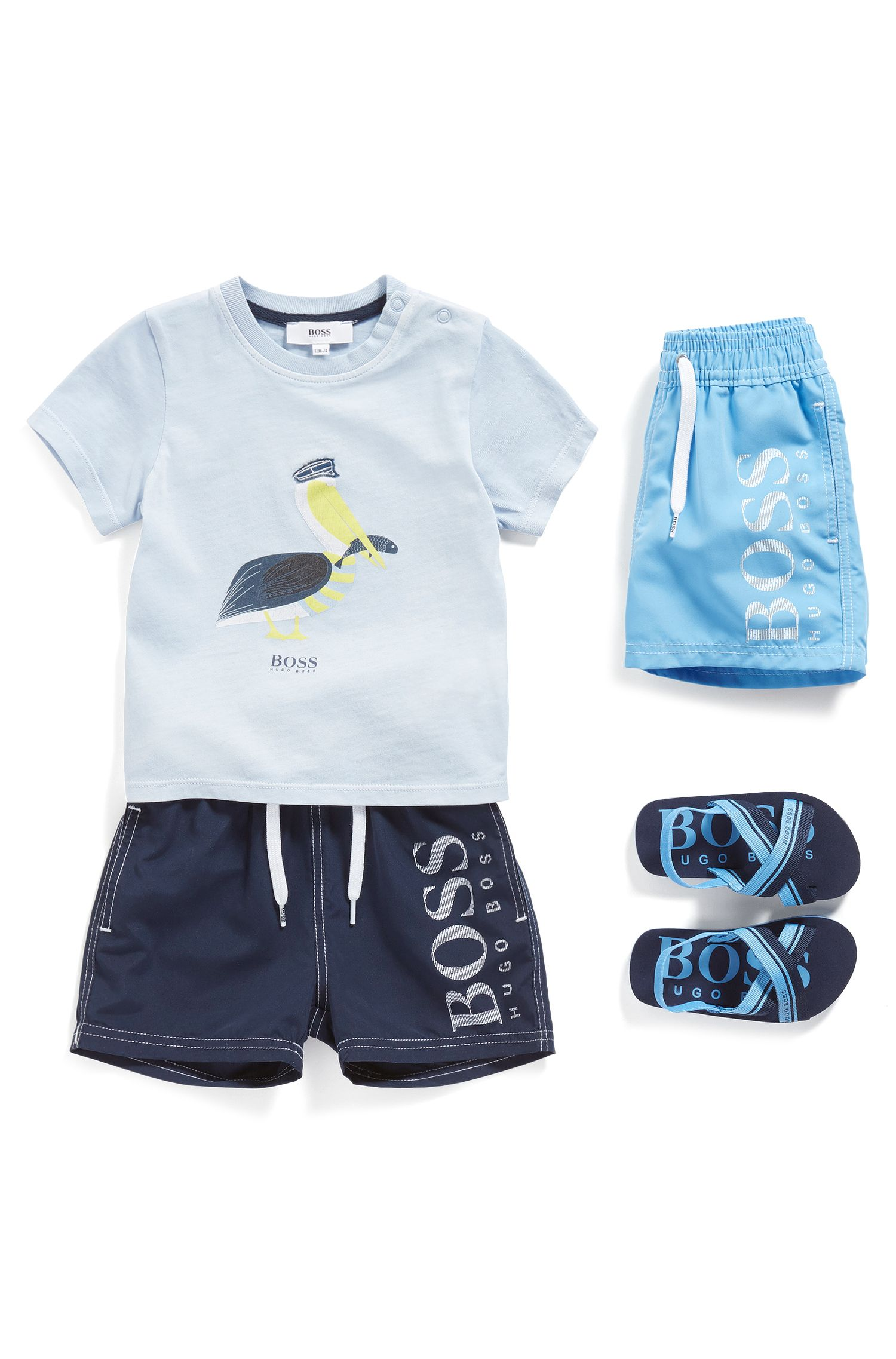 Newborns' swim shorts in mixed materials with drawstring waistband: 'J04269'