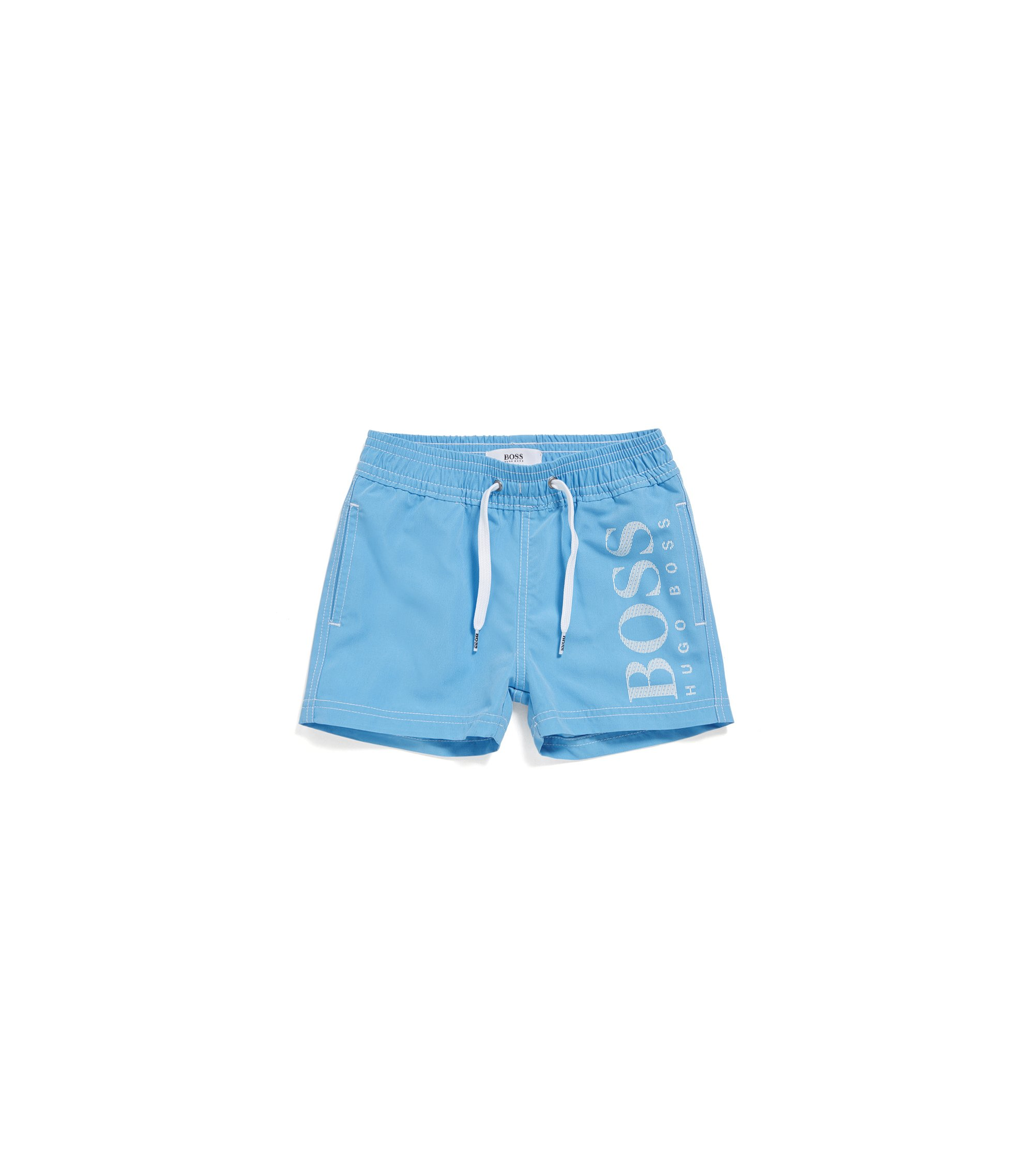 Newborns' swim shorts in mixed materials with drawstring waistband: 'J04269', Turquoise