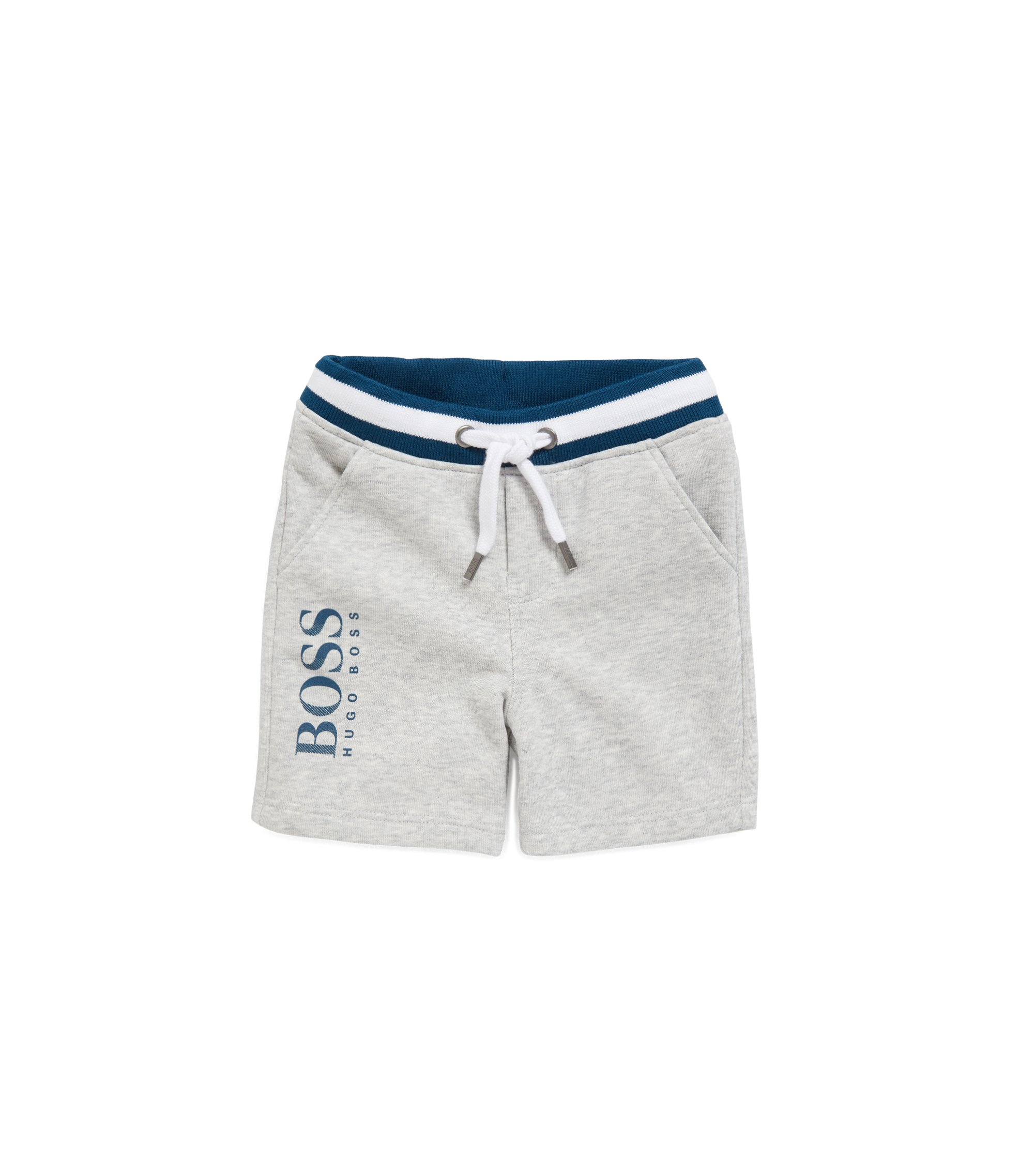 Kids' Bermuda shorts in French terry, Light Grey
