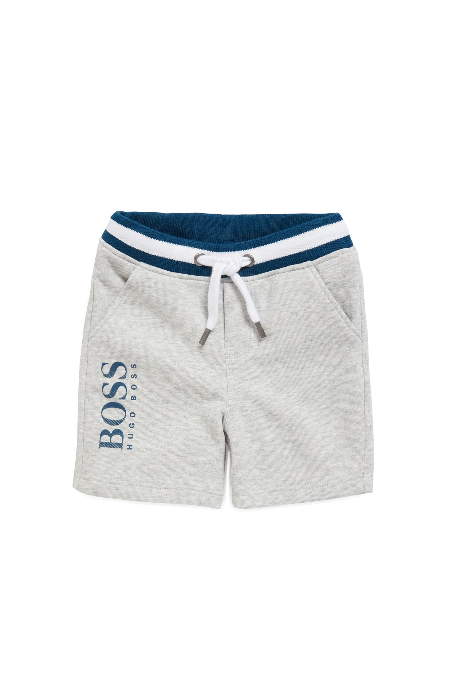 Kids-Bermuda-Shorts aus French Terry, Hellgrau