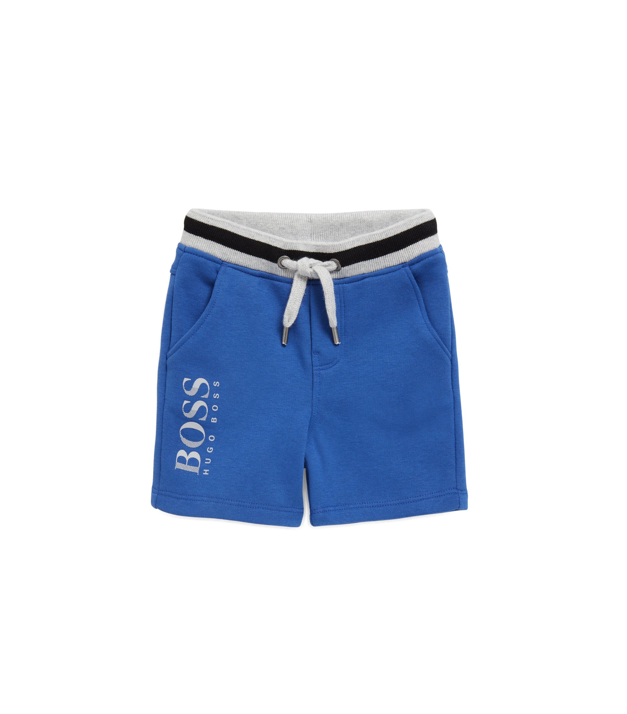 Kids' Bermuda shorts in French terry, Blue