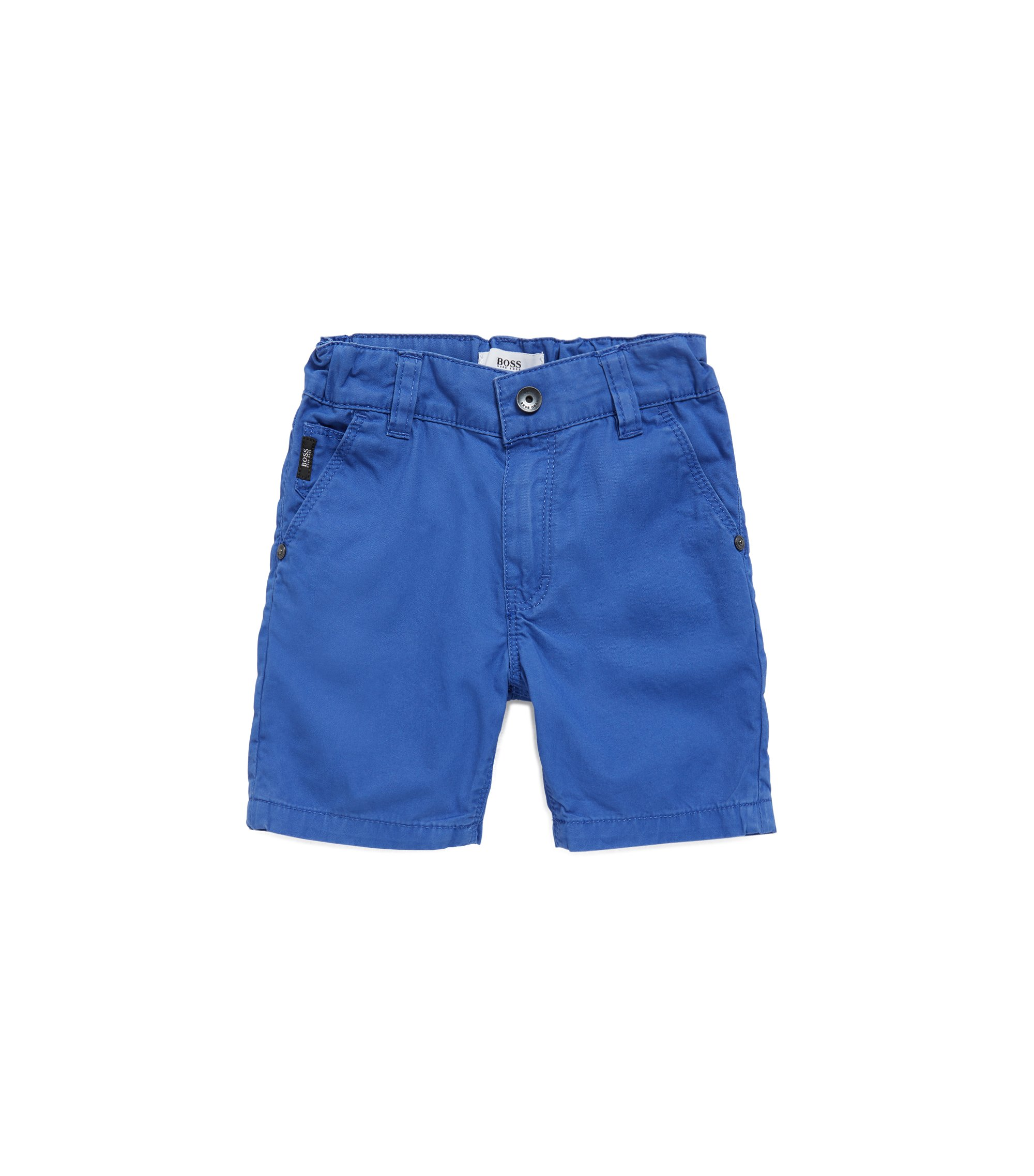 Kids' Bermuda shorts in cotton twill, Blue