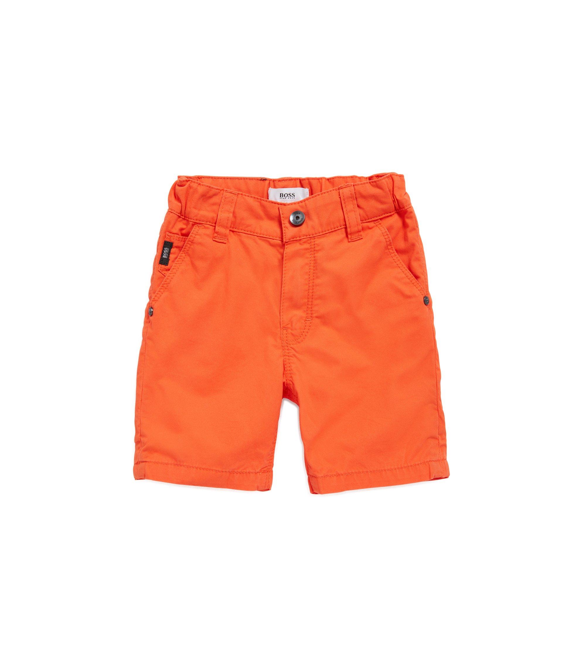 Bermuda pour enfant en sergé de coton, Orange