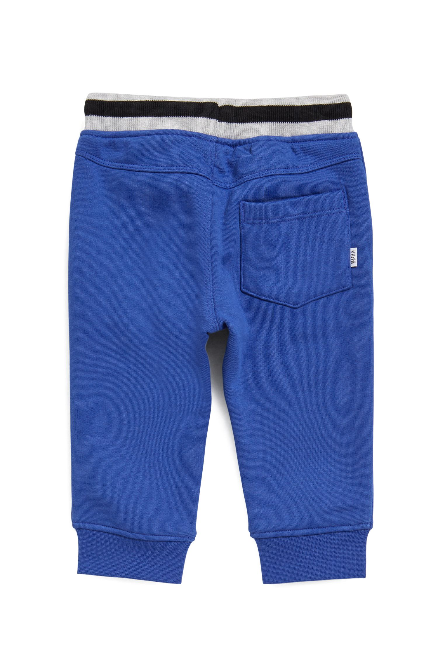 Kids' jogging bottoms in French terry