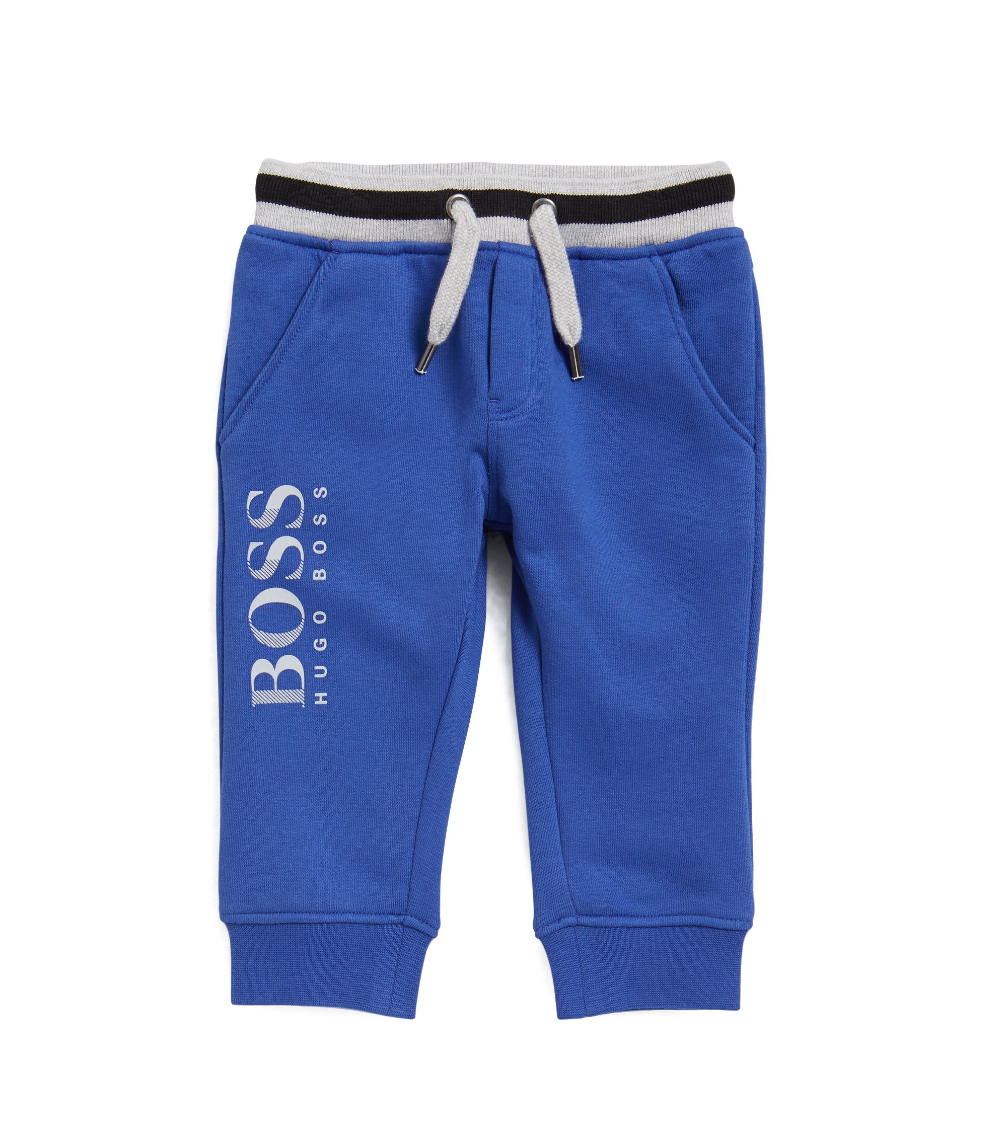 Kids' jogging bottoms in French terry , Blue