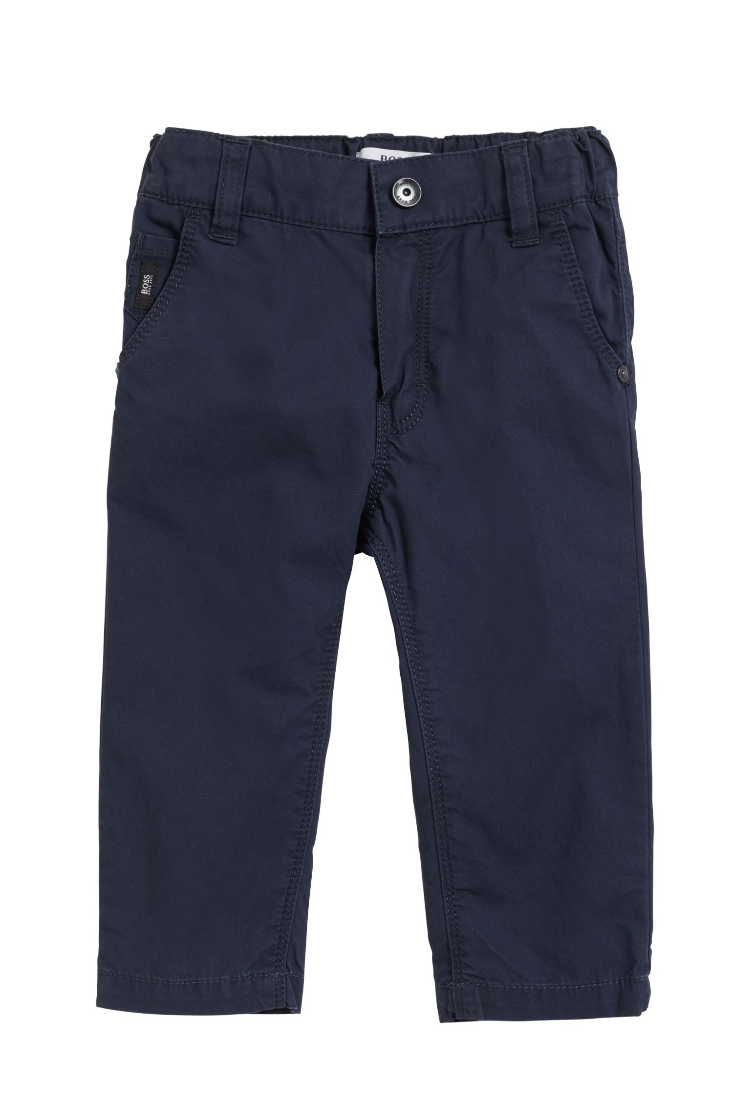 Kids' trousers in pure cotton twill
