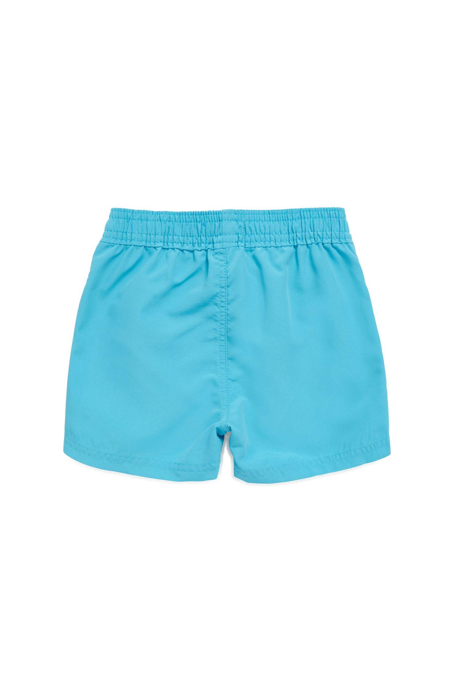 Short de bain à séchage rapide pour enfant à logo imprimé, Bleu vif