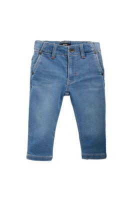 Regular-Fit Kids-Jeans aus gestricktem Stretch-Denim, Blau