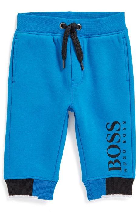 Pantalon de survêtement pour enfant en molleton de coton mélangé, Bleu
