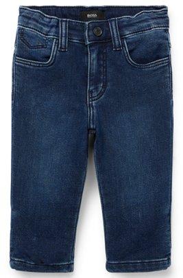 Kids' regular-fit jeans in cotton-blend fleece denim, Patterned