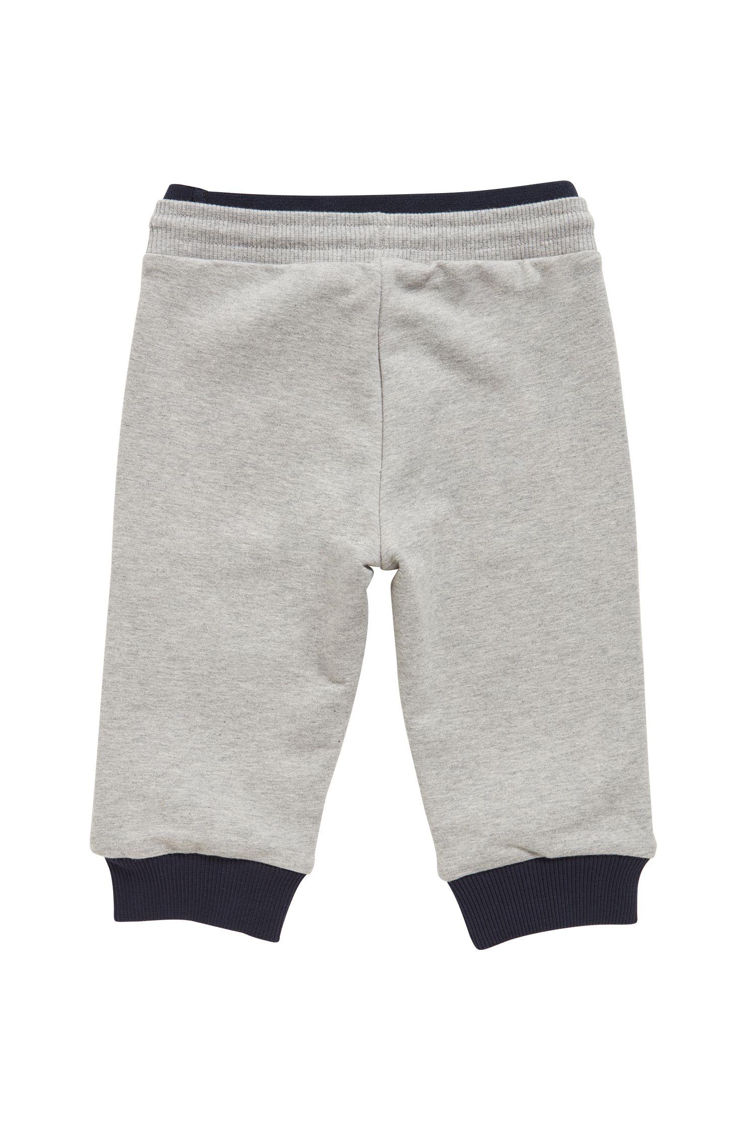 Kids-Hose aus weicher Stretch-Baumwolle, Hellgrau