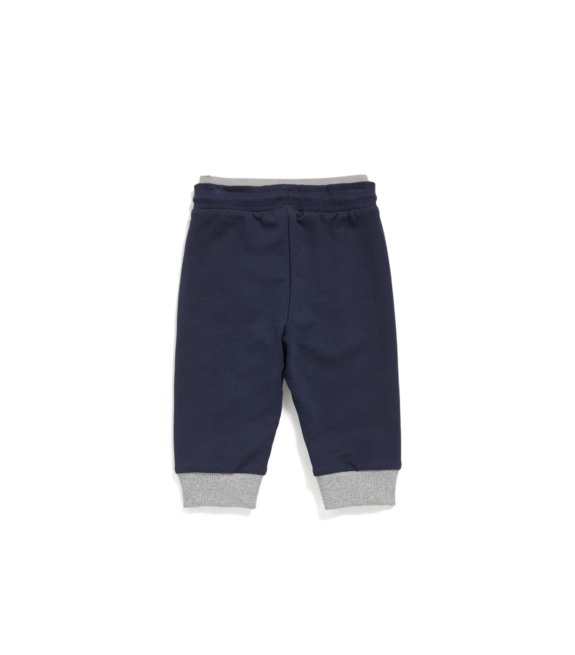 Pantalon d'intérieur pour enfant en douce polaire, Bleu foncé