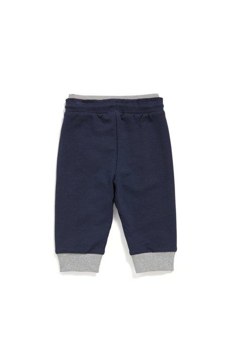 Kids' loungewear trousers in soft fleece, Dark Blue