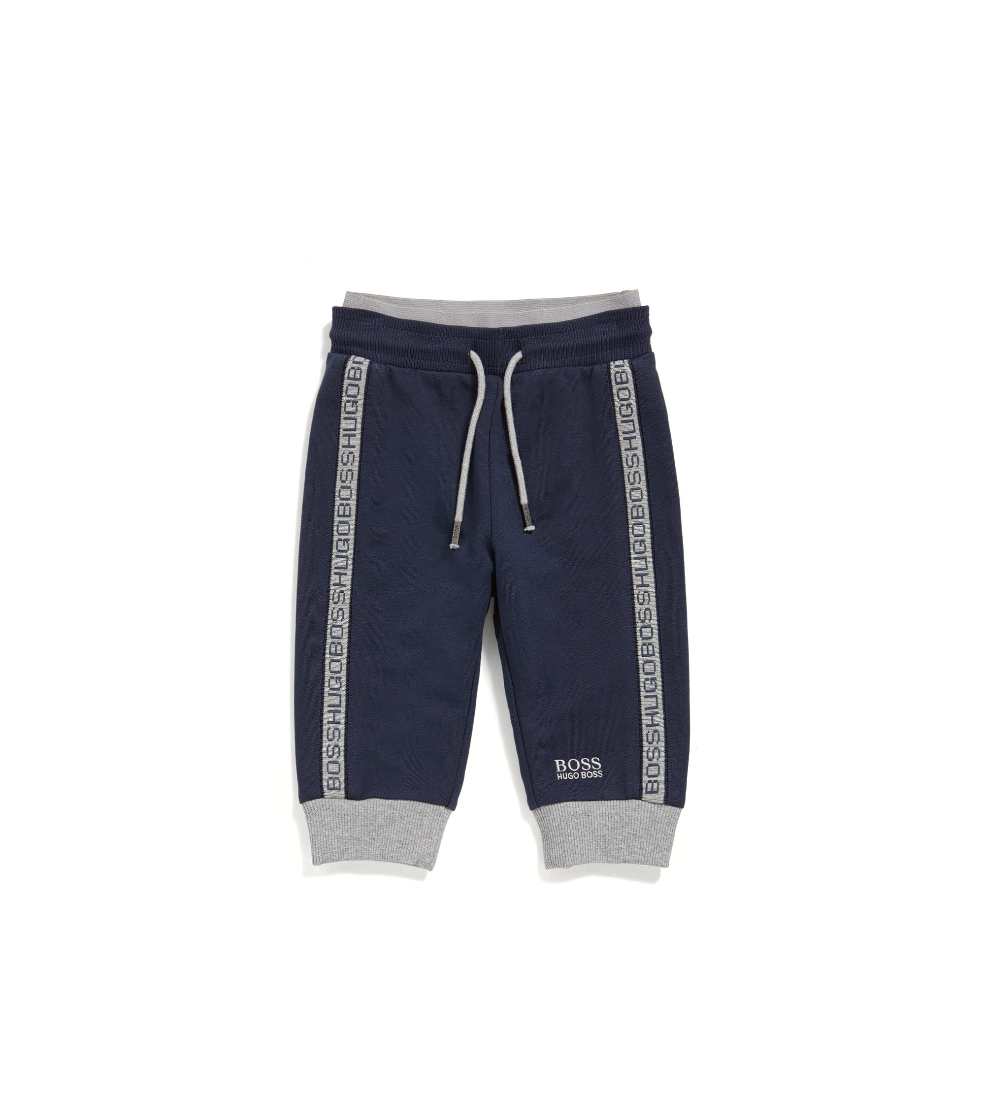 Pantalón loungewear para niños en suave tejido de forro polar, Azul oscuro