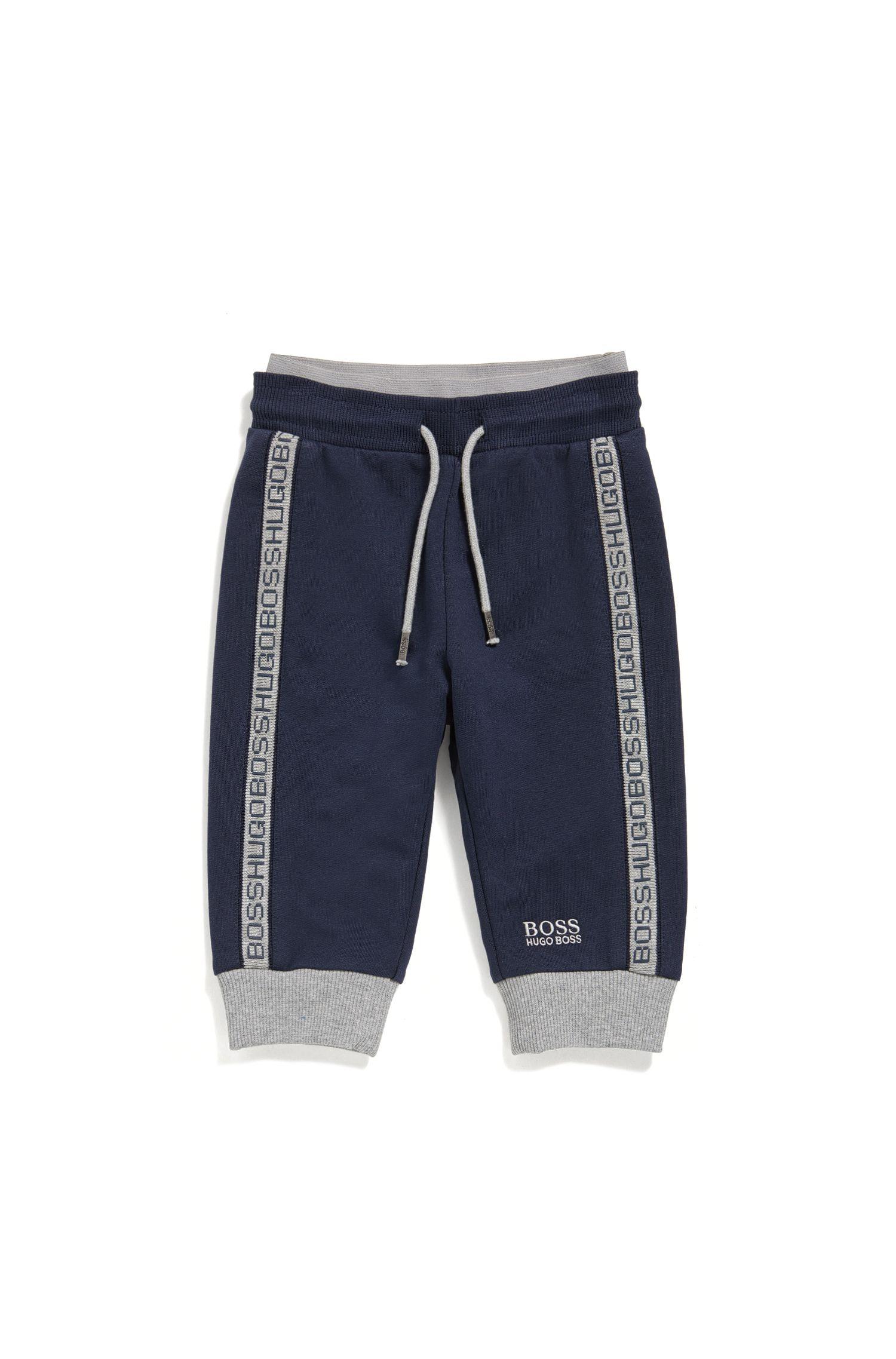 Pantalón de chándal para bebé en algodón elástico y cintura con cordón: 'J04P00'