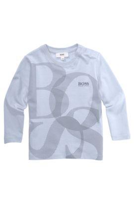 Kindershirt met lange mouwen 'J05314' van katoen, Lichtblauw