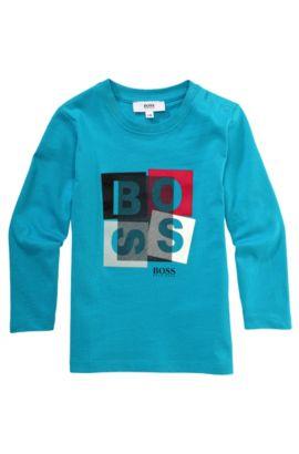 T-shirt à manches longues pour enfant «J05315» en coton, Turquoise