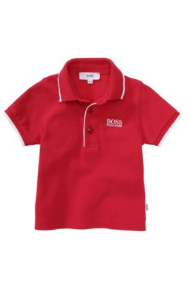 Kids-polo 'J05316' van piqué, Rood