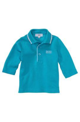 Polo à manches longues pour enfant «J05317» en coton, Turquoise