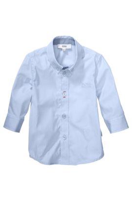 Kinderoverhemd 'J05318' van katoen, Lichtblauw