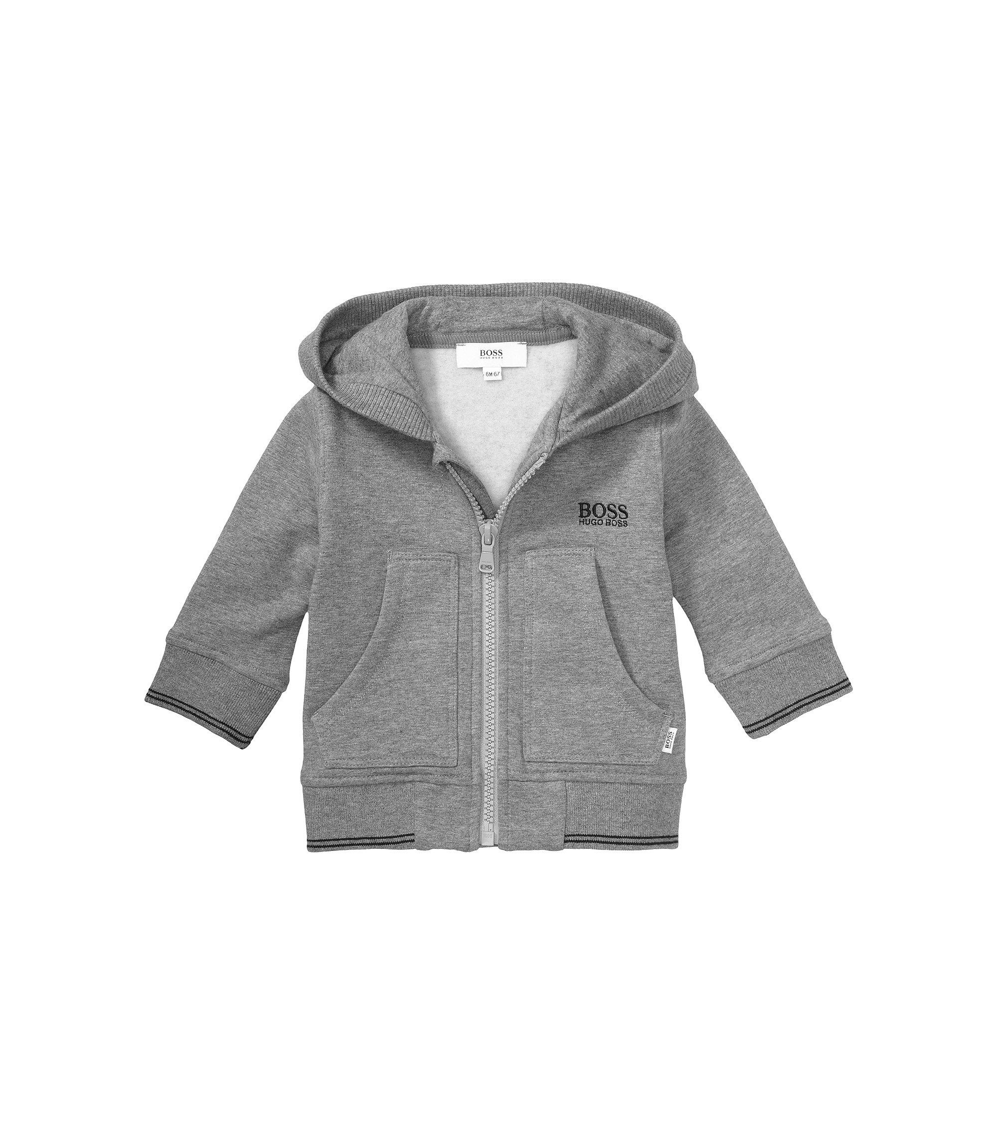 Kids-Sweatshirt-Jacke ´J05323` aus Baumwoll-Mix, Dunkelgrau