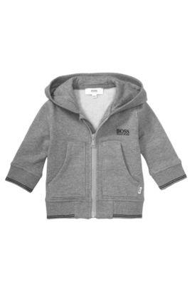 Blouson sweat-shirt pour enfant «J05323» en coton mélangé, Gris sombre
